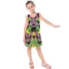 Jungle life and apples Kids  Sleeveless Dress