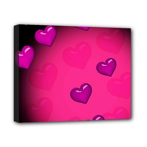 Pink Hearth Background Wallpaper Texture Canvas 10  x 8