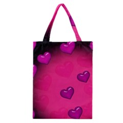 Pink Hearth Background Wallpaper Texture Classic Tote Bag