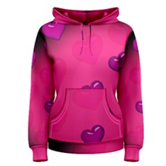 Pink Hearth Background Wallpaper Texture Women s Pullover Hoodie