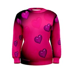 Pink Hearth Background Wallpaper Texture Women s Sweatshirt