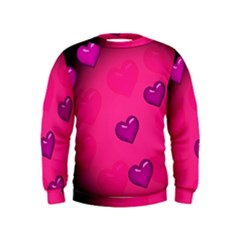 Pink Hearth Background Wallpaper Texture Kids  Sweatshirt