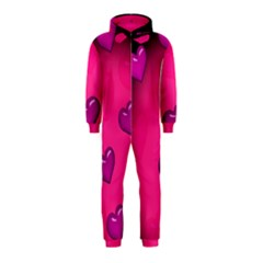 Pink Hearth Background Wallpaper Texture Hooded Jumpsuit (kids)
