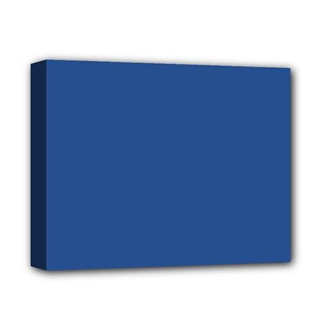 Delphinium Blue in an English Country Garden Deluxe Canvas 14  x 11