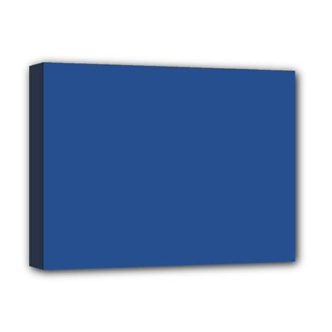 Delphinium Blue in an English Country Garden Deluxe Canvas 16  x 12