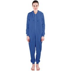 Delphinium Blue in an English Country Garden Hooded Jumpsuit (Ladies)