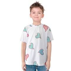 Colorful Random Hearts Kids  Cotton Tee