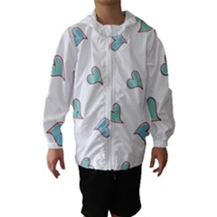 Colorful Random Hearts Hooded Wind Breaker (Kids)