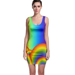 Background Rainbow Sleeveless Bodycon Dress