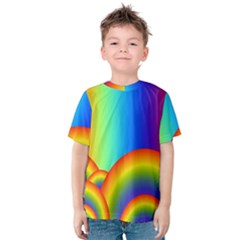 Background Rainbow Kids  Cotton Tee