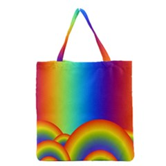 Background Rainbow Grocery Tote Bag