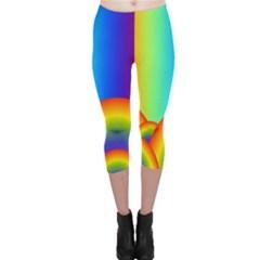 Background Rainbow Capri Leggings