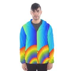 Background Rainbow Hooded Wind Breaker (Men)