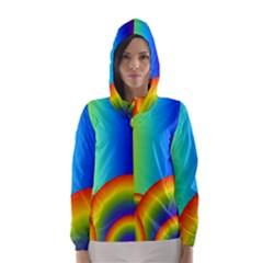 Background Rainbow Hooded Wind Breaker (Women)