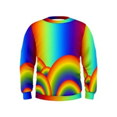 Background Rainbow Kids  Sweatshirt