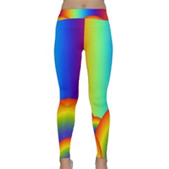 Background Rainbow Classic Yoga Leggings