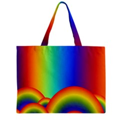 Background Rainbow Zipper Mini Tote Bag