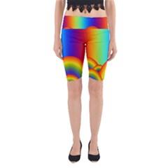 Background Rainbow Yoga Cropped Leggings