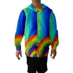 Background Rainbow Hooded Wind Breaker (Kids)