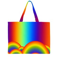 Background Rainbow Zipper Large Tote Bag