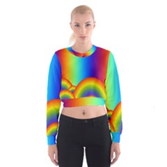 Background Rainbow Cropped Sweatshirt