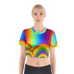 Background Rainbow Cotton Crop Top