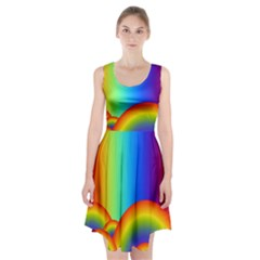 Background Rainbow Racerback Midi Dress