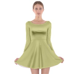 Fern Green In An English Country Garden Long Sleeve Skater Dress