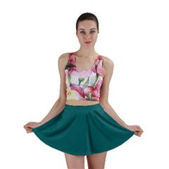 Forget Me Not Blue in an English Country Garden Mini Skirt