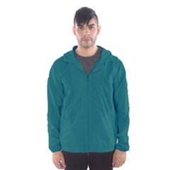 Forget Me Not Blue in an English Country Garden Hooded Wind Breaker (Men)