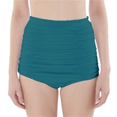 Forget Me Not Blue in an English Country Garden High-Waisted Bikini Bottoms