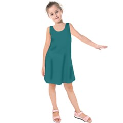 Forget Me Not Blue in an English Country Garden Kids  Sleeveless Dress