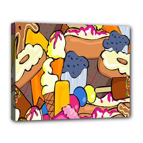 Sweet Stuff Digitally Food Canvas 14  x 11