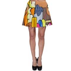 Sweet Stuff Digitally Food Skater Skirt