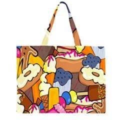 Sweet Stuff Digitally Food Large Tote Bag