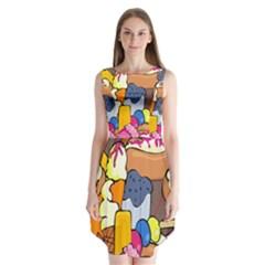Sweet Stuff Digitally Food Sleeveless Chiffon Dress
