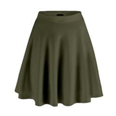 Garden Boot Green in an English Country Garden High Waist Skirt