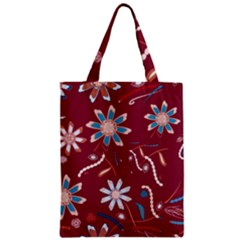 Floral Seamless Pattern Vector Zipper Classic Tote Bag