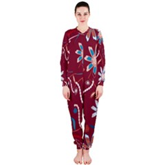 Floral Seamless Pattern Vector OnePiece Jumpsuit (Ladies)