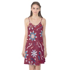 Floral Seamless Pattern Vector Camis Nightgown