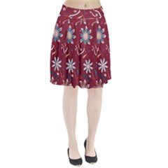 Floral Seamless Pattern Vector Pleated Skirt