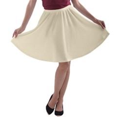 Gardenia Cream in an English Country Garden A-line Skater Skirt