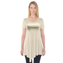 Gardenia Cream in an English Country Garden Short Sleeve Tunic