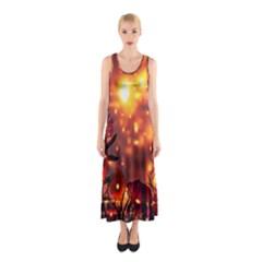 Summer Evening Sleeveless Maxi Dress