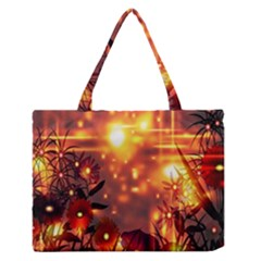 Summer Evening Medium Zipper Tote Bag