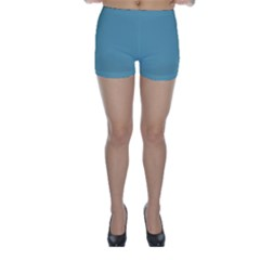 Hydrangea Blue in an English Country Garden Skinny Shorts