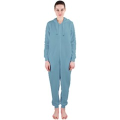 Hydrangea Blue in an English Country Garden Hooded Jumpsuit (Ladies)