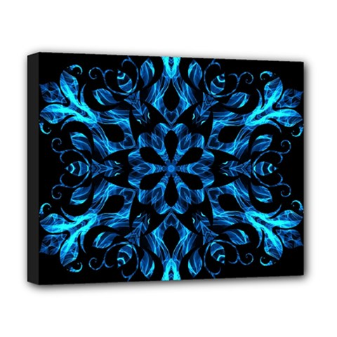 Blue Snowflake Deluxe Canvas 20  X 16
