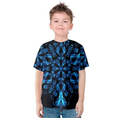 Blue Snowflake Kids  Cotton Tee