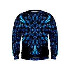 Blue Snowflake Kids  Sweatshirt